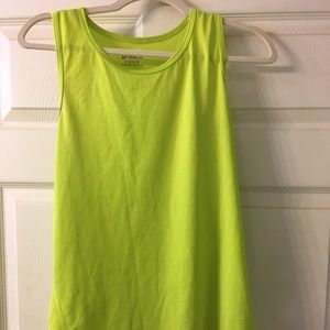 Lime green athletic tank